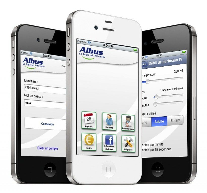 Application mobile infirmier libéral Albus